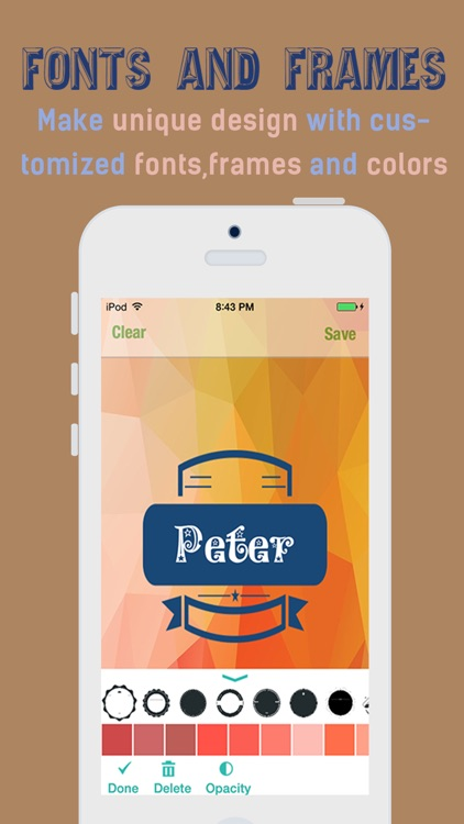 iPolygram Lite - Create your own custom wallpapers and backgrounds screenshot-3