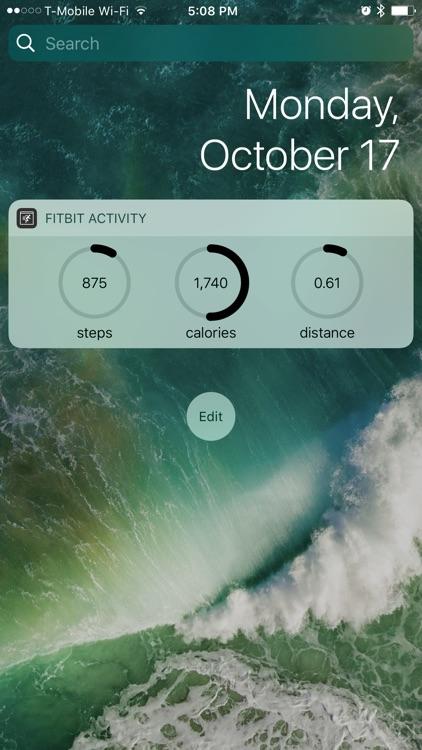Activity Widget for Fitbit