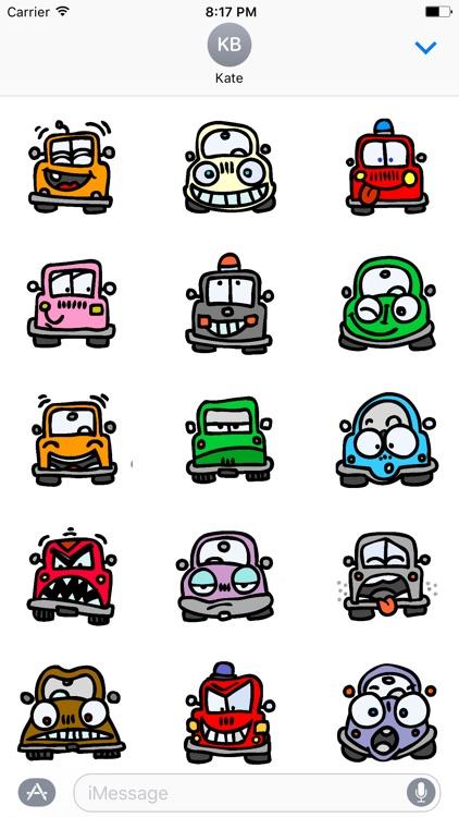 Car Smileys Stickers