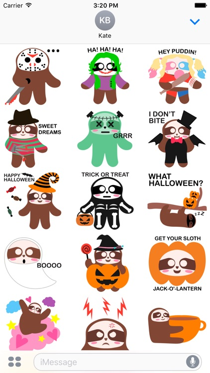 Sloth Halloween Domoji screenshot-1