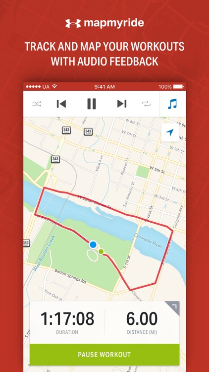 Map My Ride - GPS Cycling & Route Tracker app image