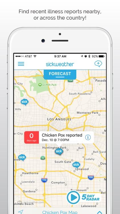 Sickweather - local illness tracker, maps & alerts