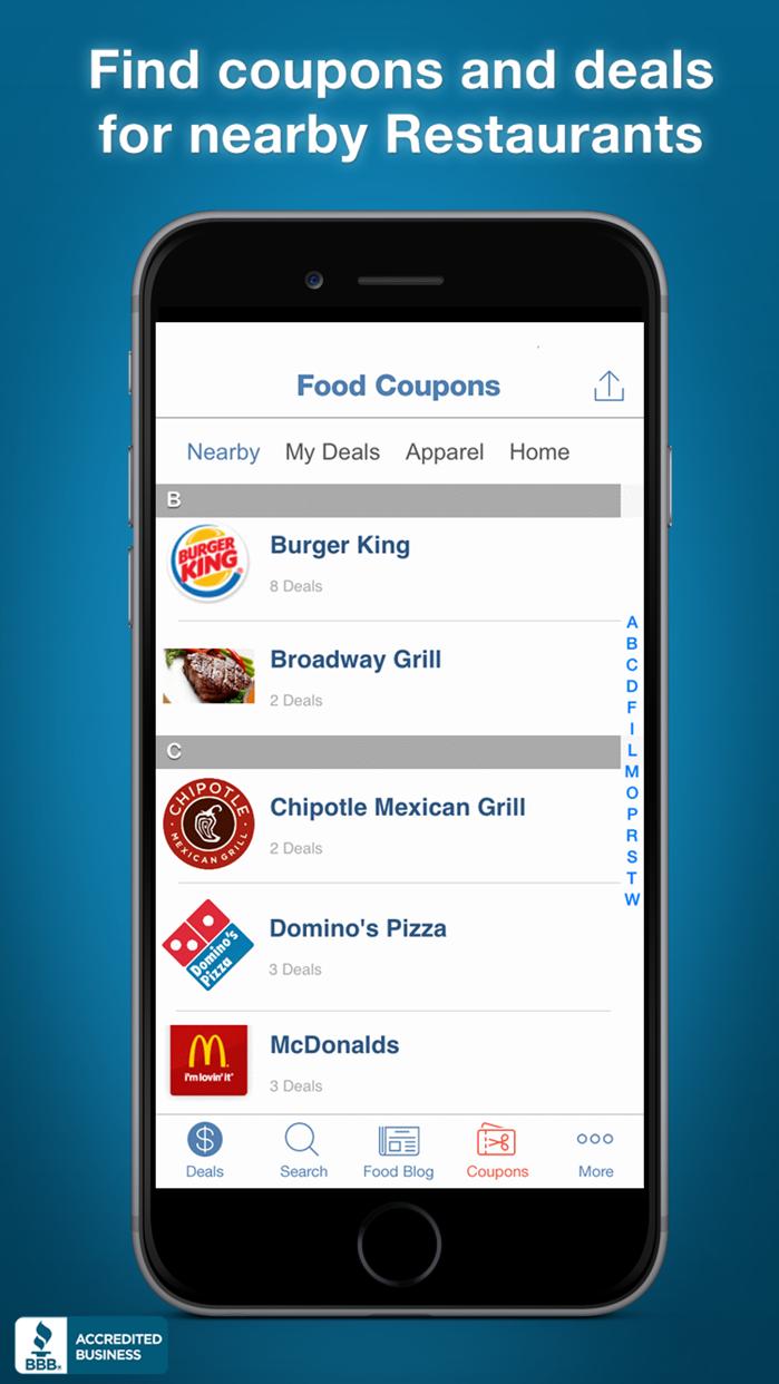Food Coupons, Fast Food Restaurant Mcdonalds Pizza Screenshot