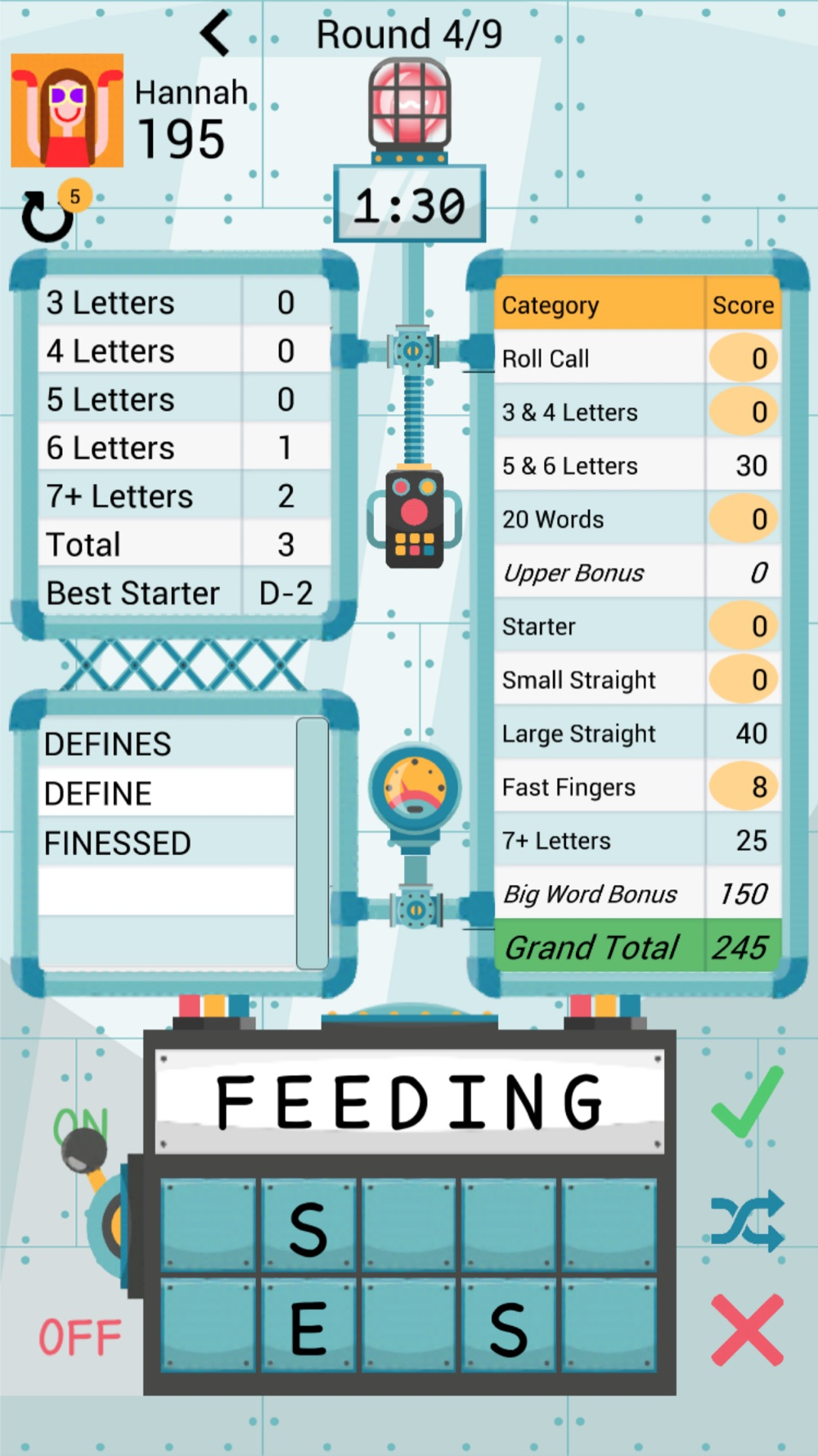 Letter Head – A Word Game