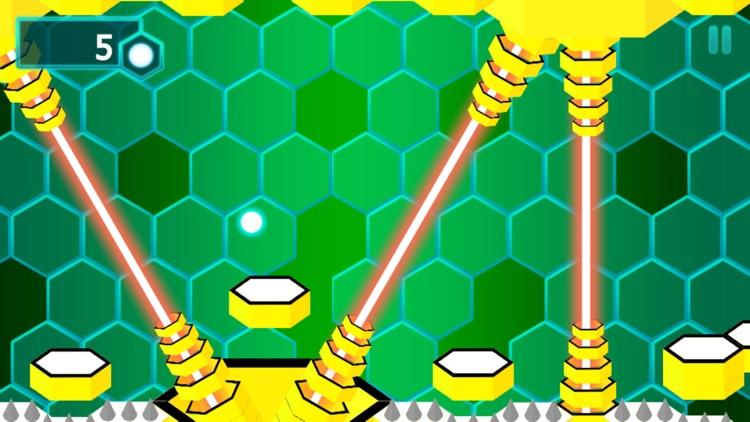 Bouncing Ball Attack Orange Killer Bee Hive Game screenshot-4