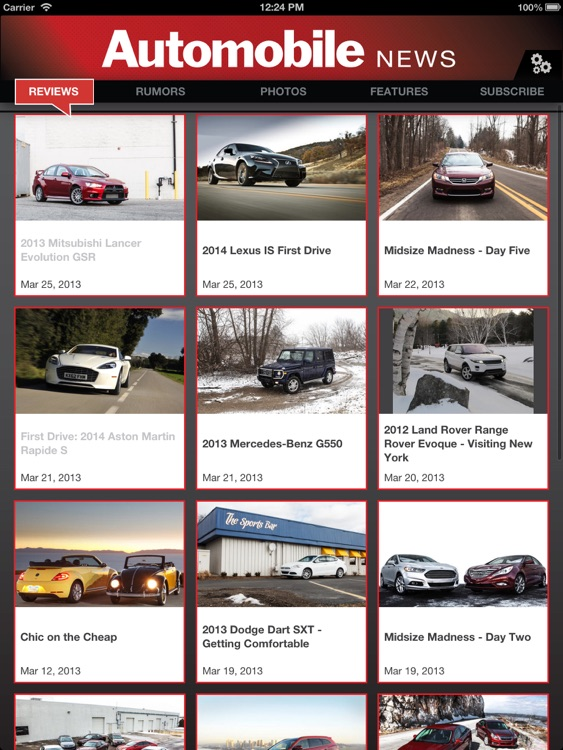 Automobile Magazine News for iPad