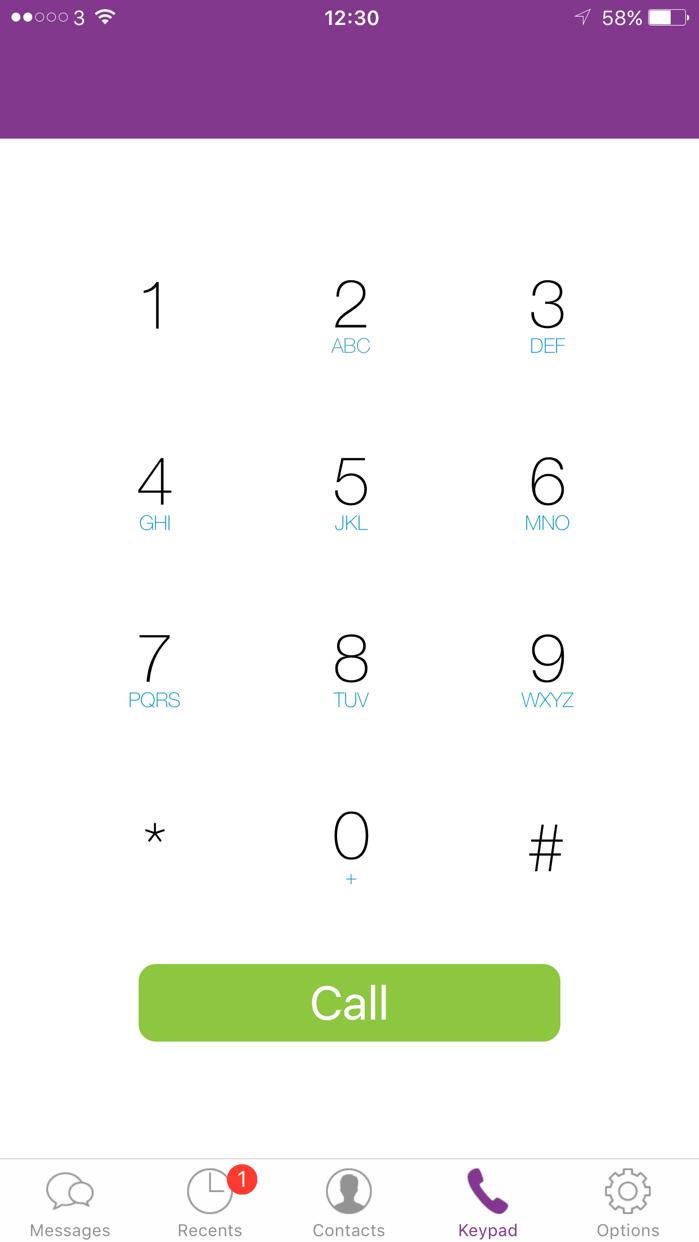 Three inTouch Screenshot