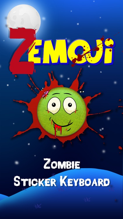 Zemoji Zombie Emoji - Halloween iMessage Stickers screenshot-0