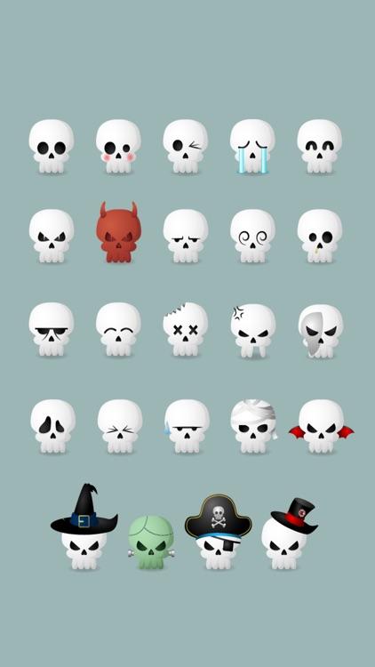 Skully Emoji Stickers screenshot-0