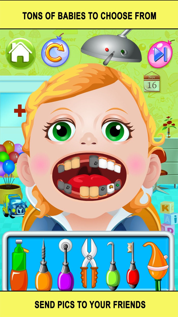 Baby Doctor Dentist Salon Games for Kids Free Screenshot