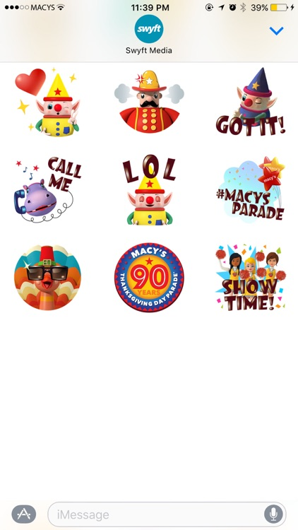 Macy's Thanksgiving Day Parade Stickers Pack screenshot-4
