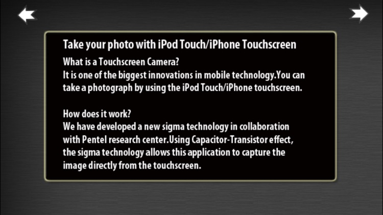 iTouchScreen Camera