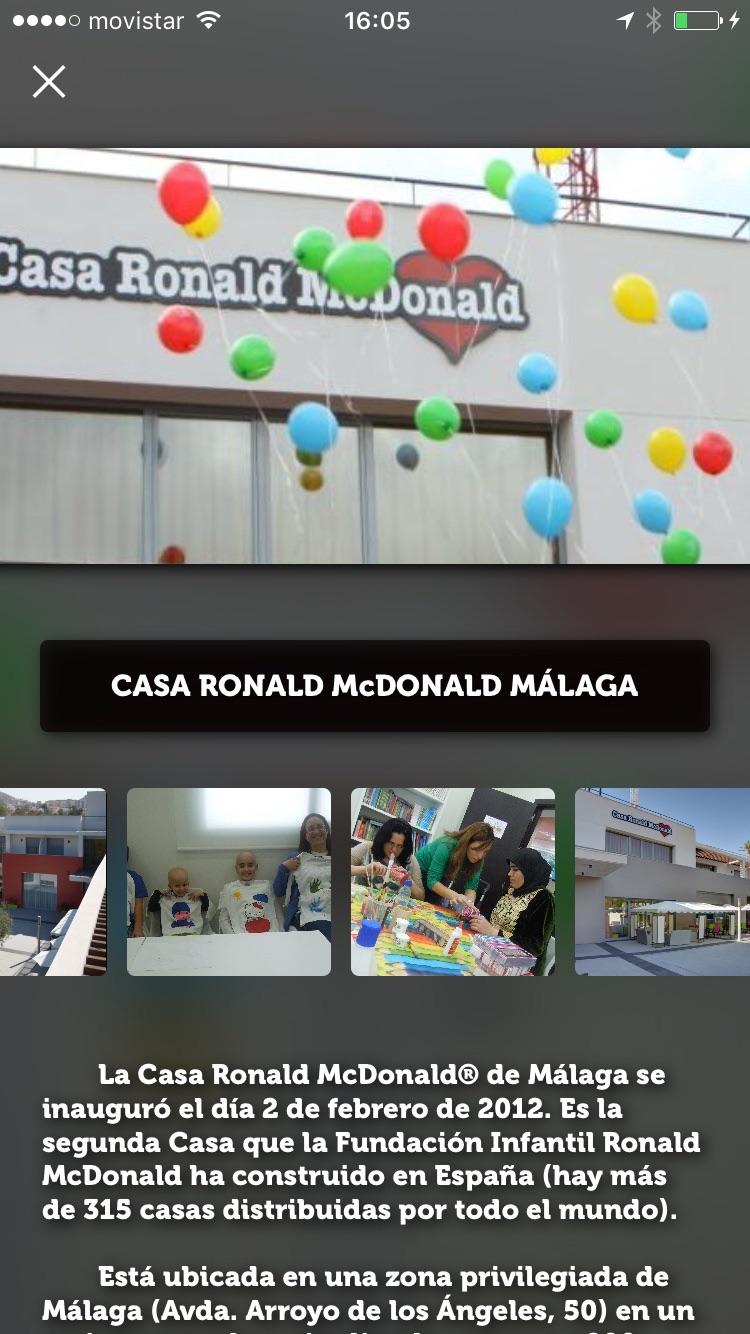 Ofertas McDonald's Málaga Screenshot
