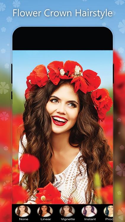 Flower Crown  Hairstyles Makeup screenshot-4