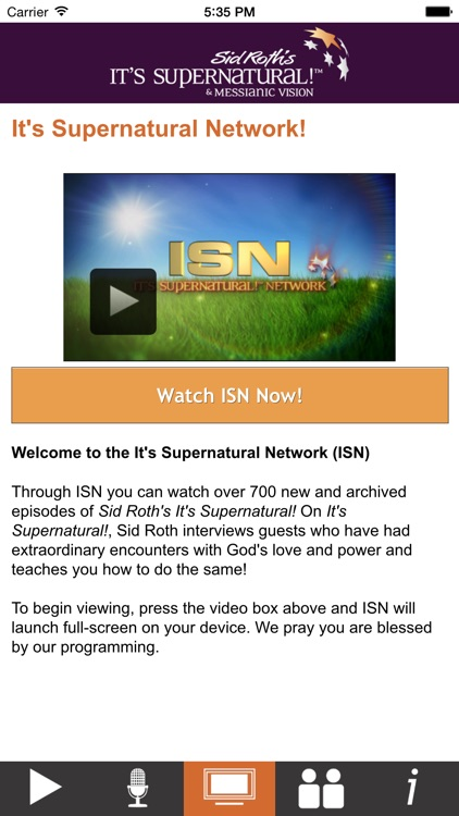Sid Roth's It's Supernatural! Network