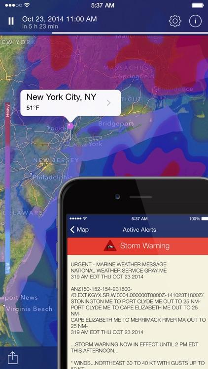 NOAA Radar Pro – Weather Alerts & Forecast app image