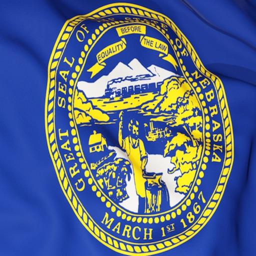 Nebraska Flag Stickers