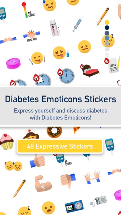 Diabetes Emoticon Stickers