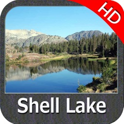 Lake Shell Wisconsin HD GPS fishing map offline