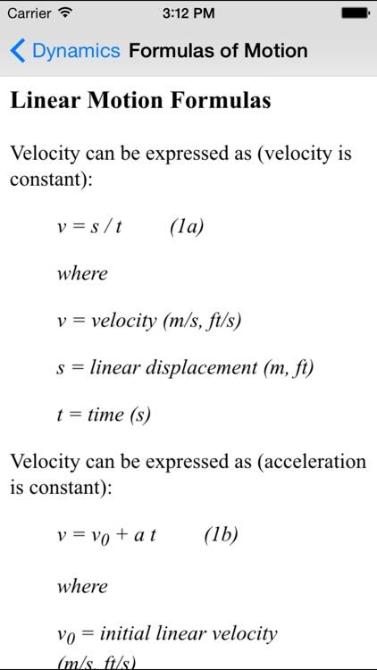 Dynamics Basics - Engineering Students screenshot-3