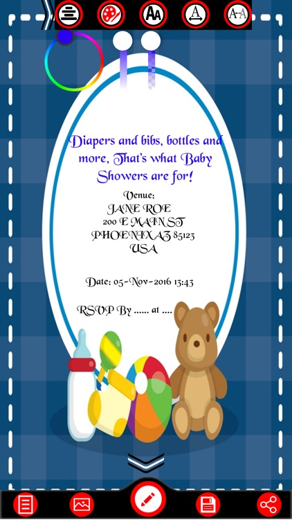 Baby Shower Invitation Cards Maker screenshot-3