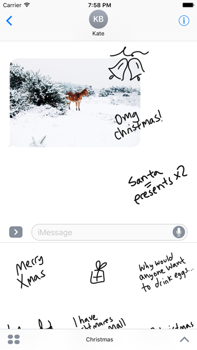Christmas sticker pack, food stickers for iMessage screenshot one