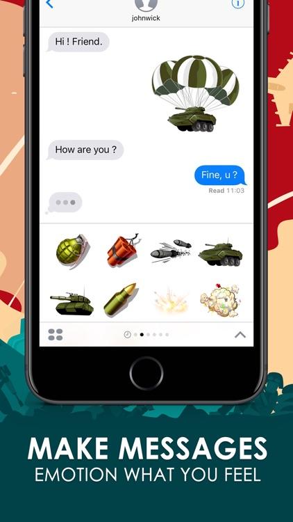World Wars Emoji Stickers Keyboard Themes ChatStic