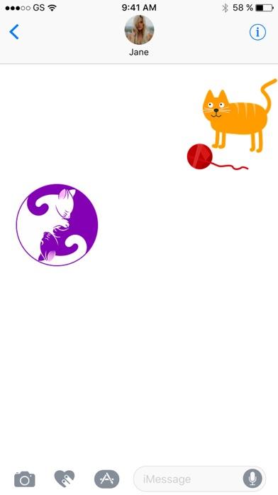 Cat Two Sticker Pack!のスクリーンショット3