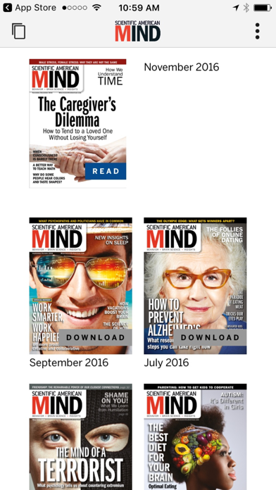 Scientific American Mind Screenshot