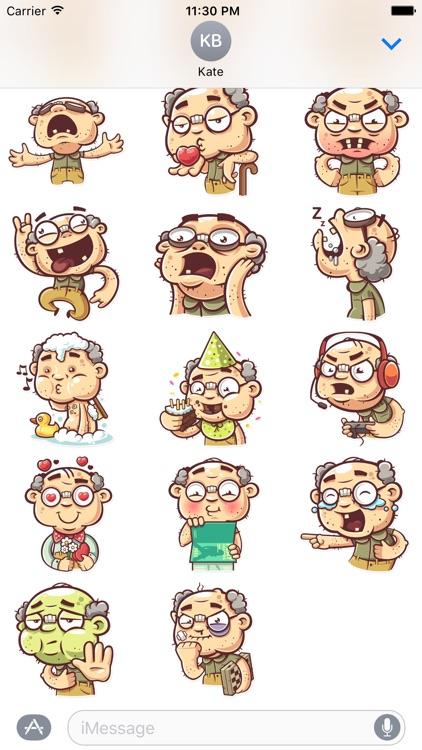 Old Grandpa - Stickers for iMessage