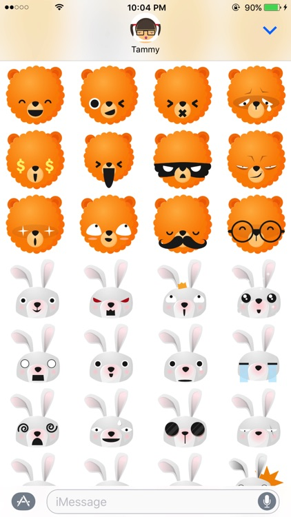 Fun Animals Sticker Pack with Emoji Faces screenshot-3