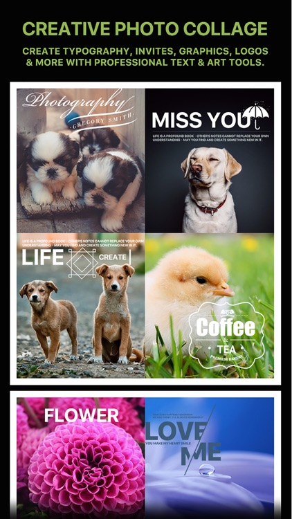 Message Card - Add Stickers, Filters & Text