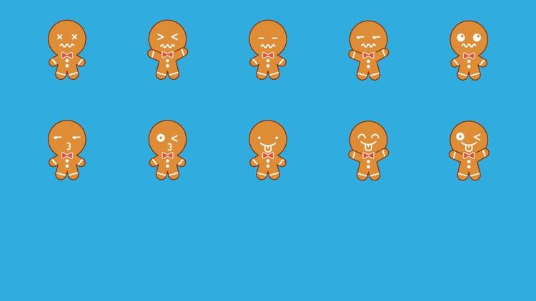 Gingerbread Man Emojis screenshot-3
