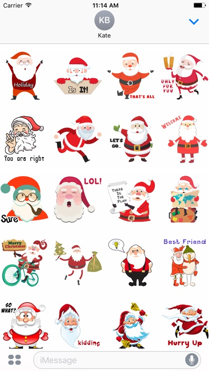 Santa Stickers - Santa Claus Stickers for iMessage