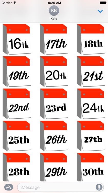 DayCals: Ordinal Perpetual Calendar Stickers screenshot-3