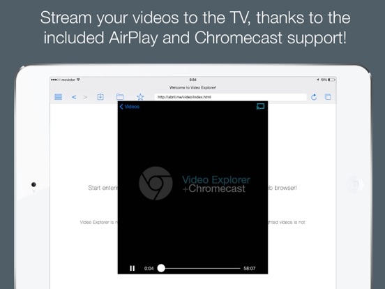 Video Explorer - Video Player for Chromecast Screenshot