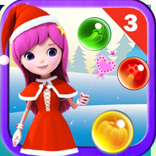 Witch Christmas Bubble Shooter Mania 3