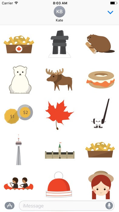 Canadian Things Sticker Pack屏幕截圖1