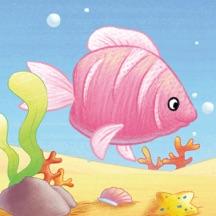 粉红鱼历险记-kimikids奇米双语互动绘本