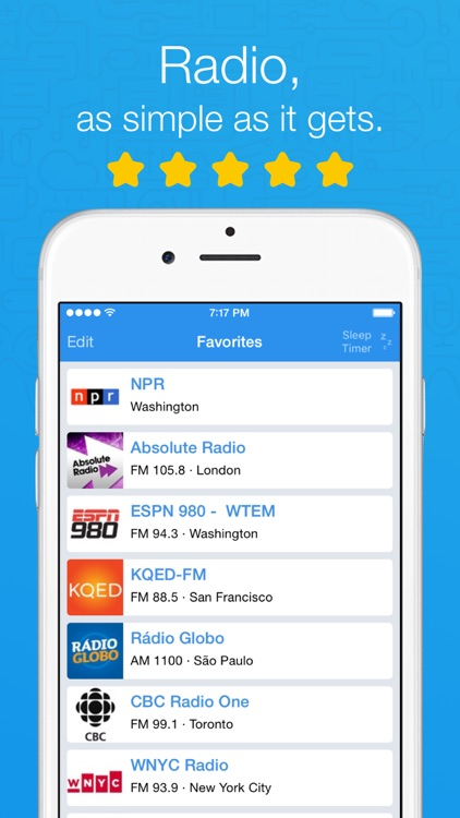 Simple Radio - Live AM & FM Radio Stations screenshot-0