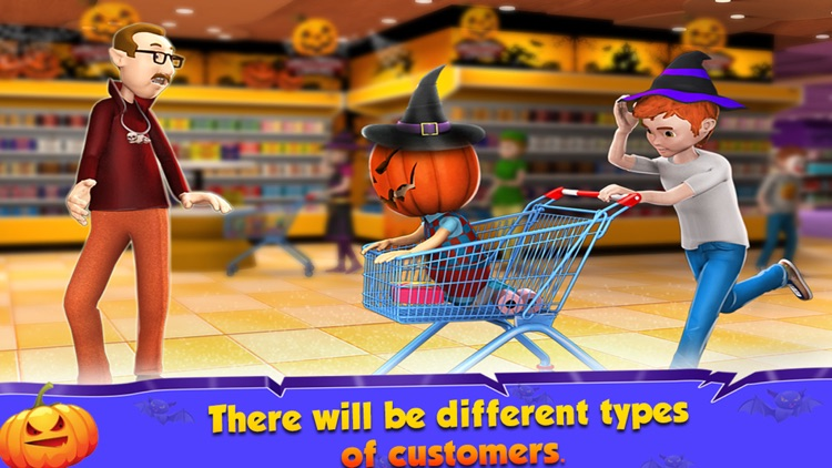 Halloween Supermarket Store