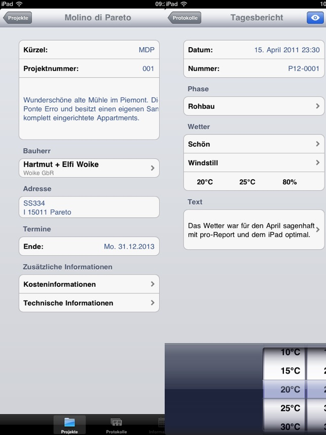 pro-Report 2 – mobiles Bautagebuch on the App Store