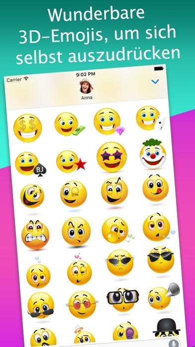 3D Emoji-Aufkleber für iMessageScreenshot von 1