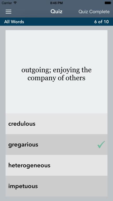 GRE® | GMAT® Vocabulary screenshot four