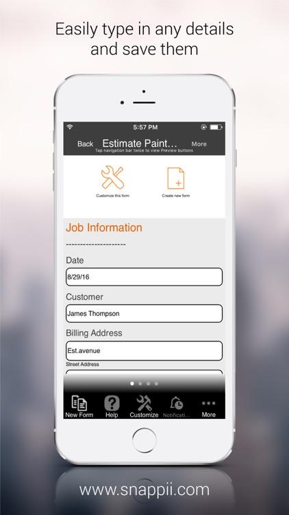 Estimate Painting Form App