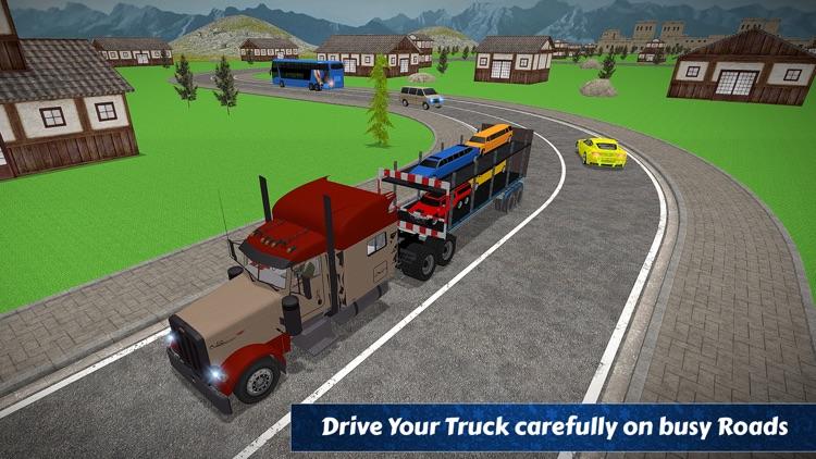 Limo Car Transporter Trailer Truck 3D
