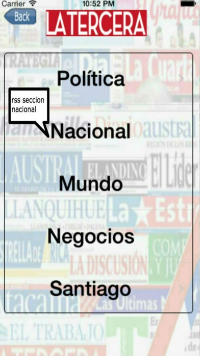 Entre Noticias Chile screenshot one