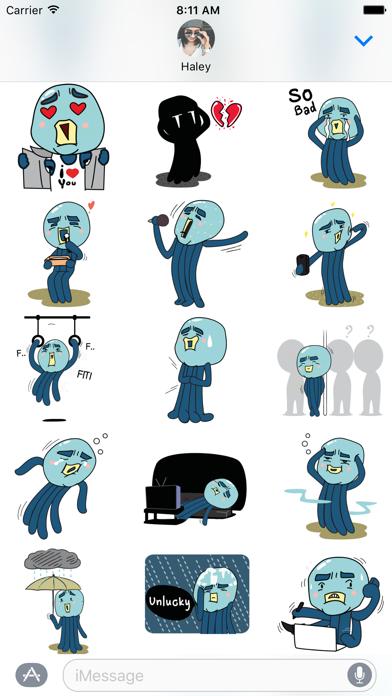 Screen Shot Cranky Octo - Octopus Stickers 1
