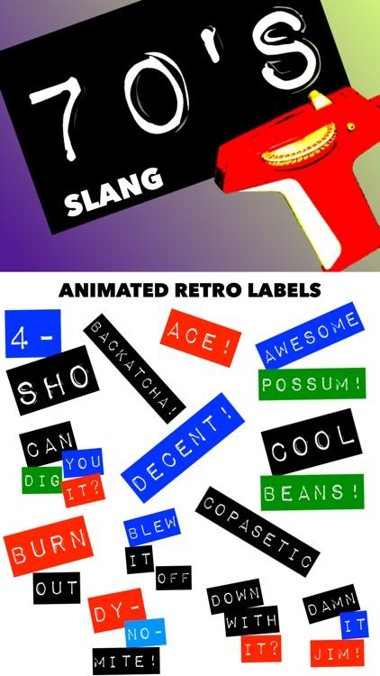 70's Slang: Retro Labeler