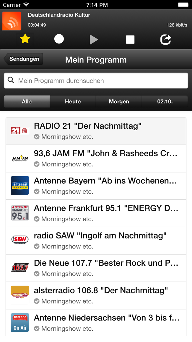 phonostar Radio - Radioplayer Screenshot